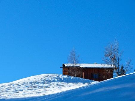 Winter, Snow, Mountains, Alpine, Montafon, Ski Lodge