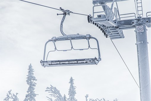 Chairlift, Winter, Snow, Ice, Frost, Cold, Cloudy