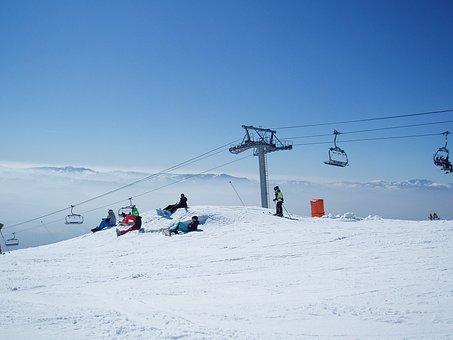 Cableway, Slovakia, Tatry, Snowboard, Snow, Nature