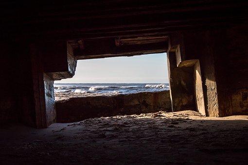 Bunker, Sea, Sand, Ocean, Sun, Danish West Coast