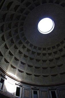 Pantheon, Italy, Sunlight, Spotlight, Rome, Ancient