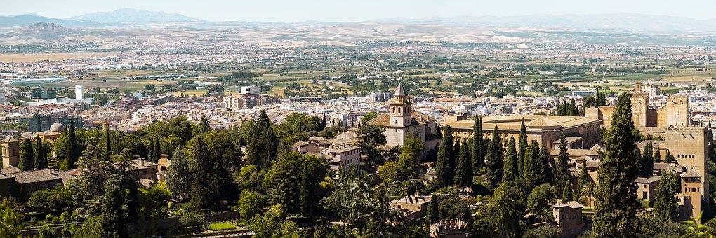Monuments, Travel, Moorish Alhambra From Chair, Granada