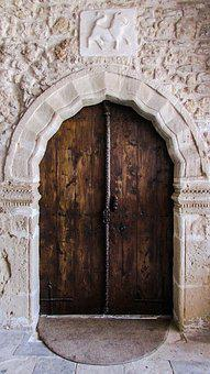 Door, Wooden, Coat Of Arms, Entrance, Gate, Old