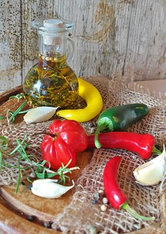 Chillis, Chilli Pepper, Chili, Red, Green, Yellow, Food