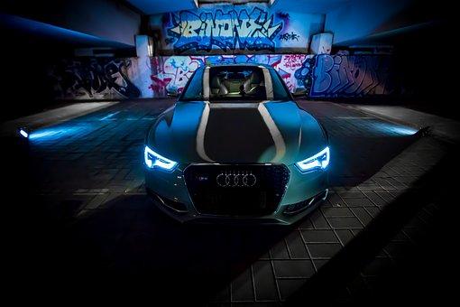 Automotive, Night View, Audi