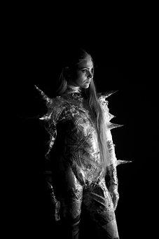 Black And White, Fashion, Woman, Beautiful, Portrait