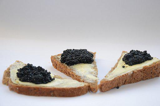 Caviar, Black Caviar, A Sandwich, Oil, Breakfast
