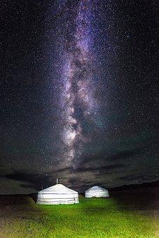 Milky Way, Mongolia, Gel, Bogart Village, July