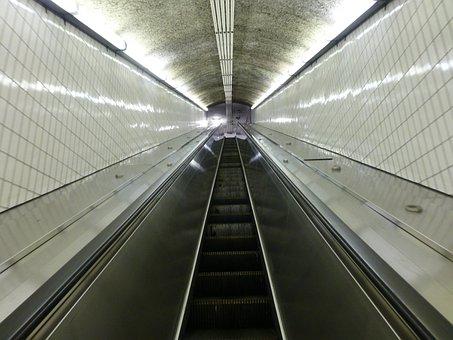 Escalator, Mbta, Boston, Massachusetts