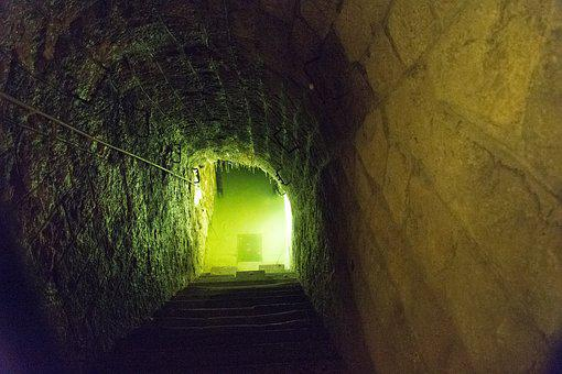 Stairs, Bunker, Fort, Gradually, Water, Douaumont