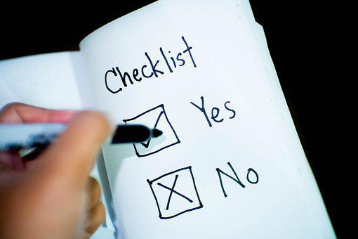 Checklist, Check Yes Or No, Decision, Opinion, Business