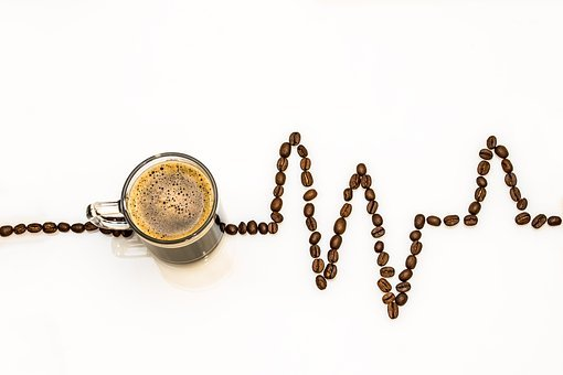Coffee Cup, Coffee, Cup, Coffee Beans, Ecg Curves