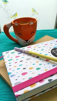 Coffee, Fuchs, Coffee Cup, Calendar, Pen, No Dates