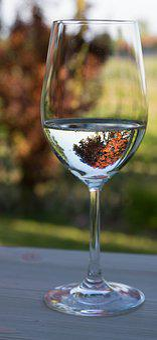 Wine Glass, White Wine Glass, White Wine, Decoration