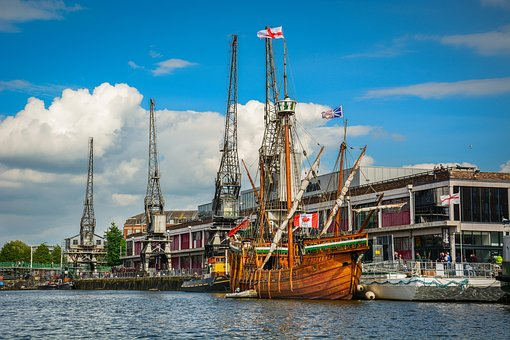 Bristol, Harbour, Ship, Matthew, Dock, Port, Water