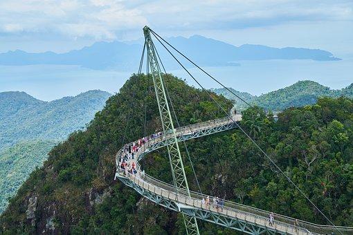 Bridge, Mountain, Taylor, Sky, High, Environmental