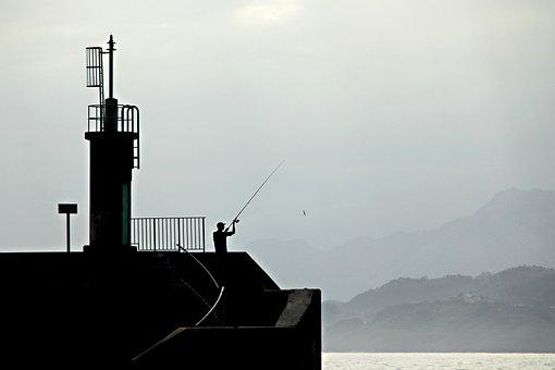Fisherman, Sea, Fishermen, Fishing, Beach, Boat, Port