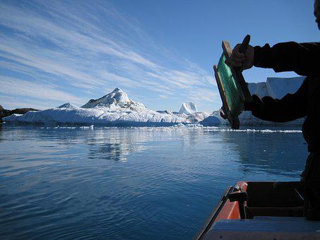 Greenland, The Icefjord, Jakobshavn, Icebergs