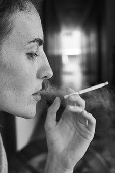 Woman, Cigarette, Drink, Nicotine, Harmful, Dependent