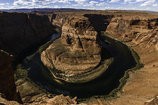 Horseshoe Bend, Grand Canyon, River, Valley, Nature