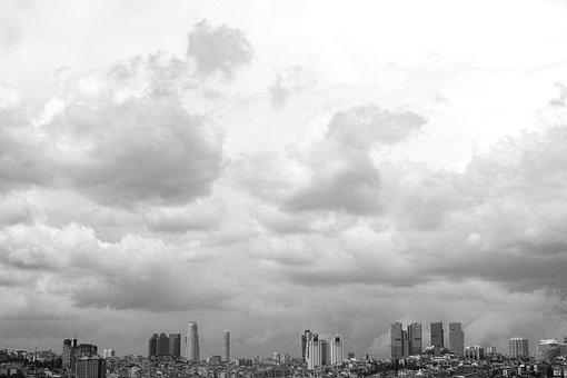 Istanbul, Landscape, City, Turkey, Cloud, Sky, Clouds