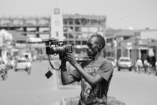 Journalist, Cameraman, Uganda, Mbale, Media, Africa