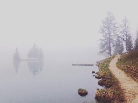 Lake, Fog, Morning, Water, Nature, Landscape, Outdoor