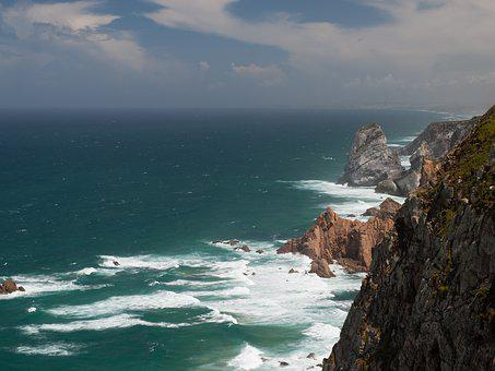 Cape Roca, Portugal, Rocks, Ocean, Lighthouse, Cape
