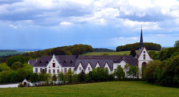 Abbey, Maria Forest, Eifel, Heimbach, Monks, Building