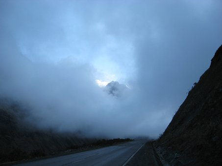 Clouds, Mountain Pass, Fog, Yungas, Nor Yungas, Bolivia
