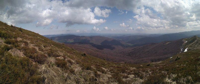Połonina Caryńska, Mountains, Panorama, Trail