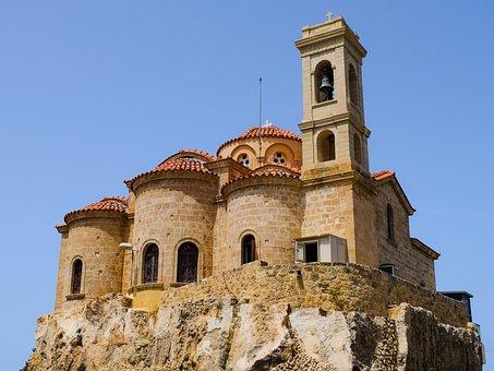 Cyprus, Paphos, Theoskepasti, Church, Orthodox