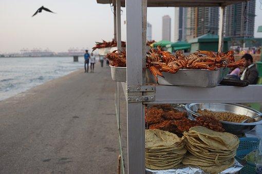 Promenade, Snack, Food, Seafood, Crab, Street Food