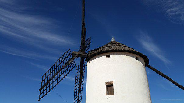 Mill, Spain, Architecture, Stain, Wind, Tourism, Grind