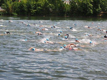 Swim, Competition, Triathlon, Water Sports, Swimmer