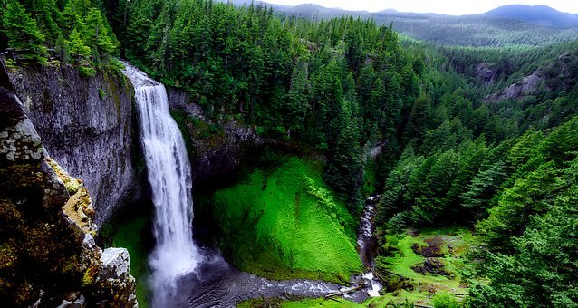 Salt Creek Falls, Waterfall, Landmark, Tourism