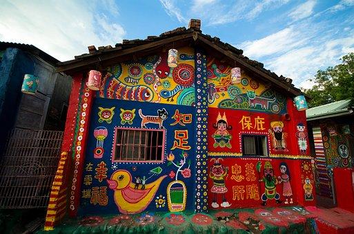 Taichung Rainbow Village Taiwan, Wall Art