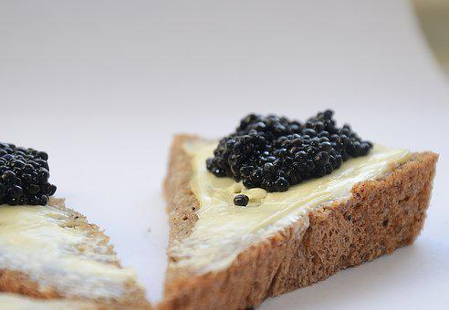 Caviar, Black Caviar, A Sandwich, Breakfast, Food