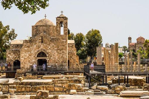 Cyprus, Paphos, Ayia Kyriaki Chrysopolitissa, Church