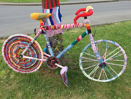 Bike, Knitted, Colorful, Mature