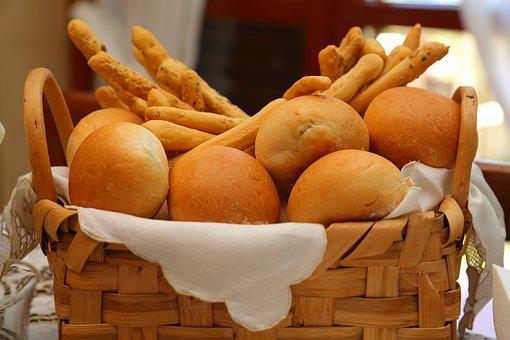 Bread, Basket, Sandwiches, Breadsticks, Baker