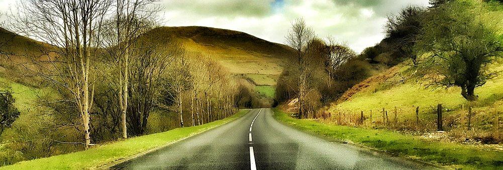 Wales, Roads, Hills, Brecon Beacons, Uk