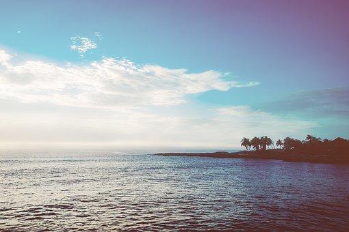 Sky, Blue, Sea, Clouds, Nature, Beach, Landscape