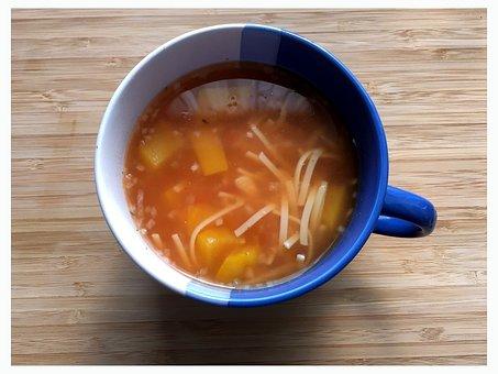 Consommé Cup, Soup, Noodles, Eat, Lunch, Nutrition