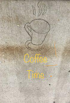 Coffee, Cup, Sidewalk Art, Cup Of Coffee, Espresso, Mug
