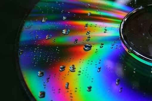 Cd, Dvd, Disc, Drops, Rainbow Colors, Disk, Technology