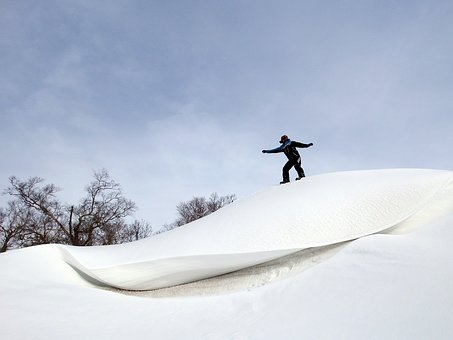 Winter, Snow, Snowdrifts, Eaves, Wave, Frost, Cold