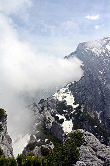 Fog, Mystical, Ghostly, Mountains, Berchtesgadener Land