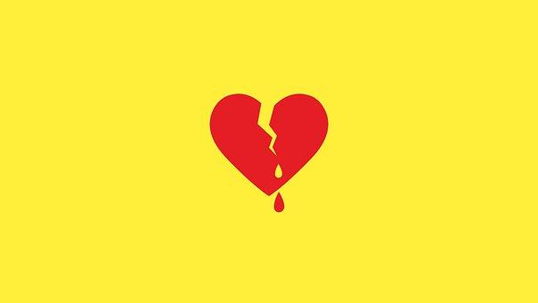 Broken Heart, Heart, Bleeding Heart, Broken, Love, Red