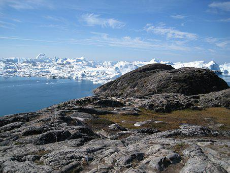 Jakobshavn, Icebergs, The Icefjord, Greenland